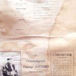 Documento di ringraziamento della Real Casa ai coniugi Dacomo per la rappresentazione cinematografica avvenuta a San Rossore nel 1906